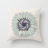 fibonacci Throw Pillows featuring Fibonacci by Jennifer Thy