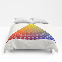 Lichtenberg-Mayer Colour Triangle recoloured remake, based on Mayer's original idea and illustration Comforters