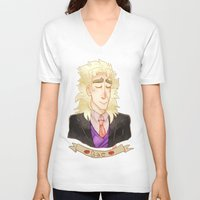 jjba V-neck T-shirts featuring SPEED by The SkeletEgg Foundation