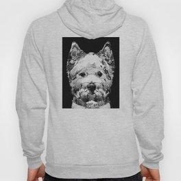 Black And White West Highland Terrier Dog Art Sharon Cummings Hoody
