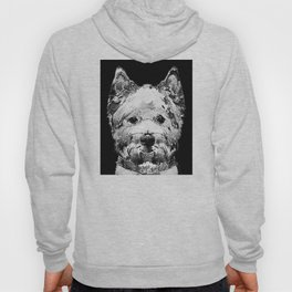 Black And White West Highland Terrier Dog Art Sharon Cummings Hoody