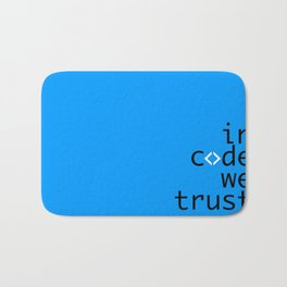 In Code We Trust - Developer Bath Mat