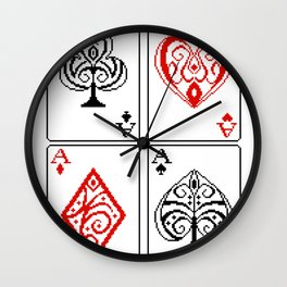 Ace cards pattern Wall Clock