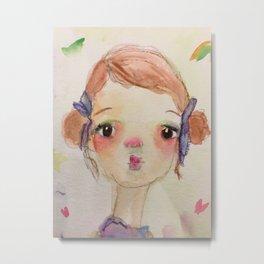 Little Girl Michelle (short) Metal Print