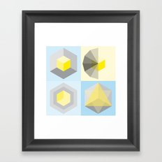 metatron's shape variation Framed Art Print