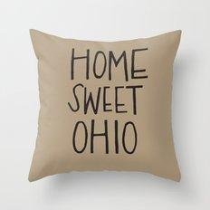 Home Sweet Ohio Throw Pillow