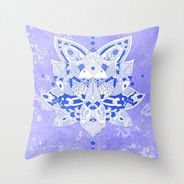 Happiness Mandala Metallic Lavender Throw Pillow