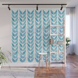 fresh mint leaves watecolor pattern Wall Mural