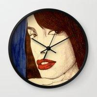 aaliyah Wall Clocks featuring Aaliyah by DeMoose_Art