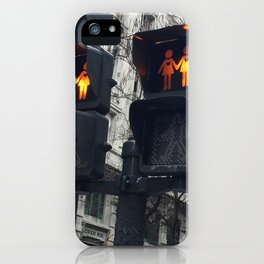 Gay Street Lights (Lesbian Couple) iPhone Case
