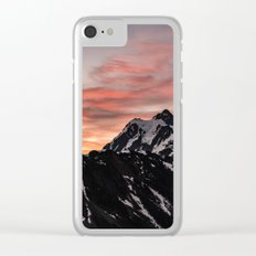 Pink Sky - Cascade Mountains Clear iPhone Case