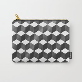 CUBE - gradient black on white Carry-All Pouch