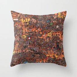 Gold Favela Throw Pillow
