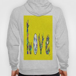 ASL LOVE HANDS TYPOGRAPHY Hoody