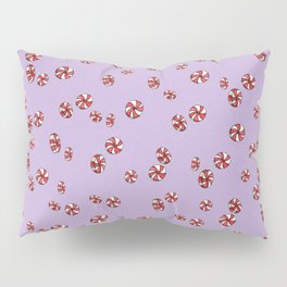 Peppermint Candy in Purple Pillow Sham