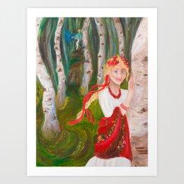 Beauty of a Birch Forest Art Print