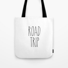 Road Trip text Tote Bag