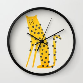 Speedy Cheetah Wall Clock