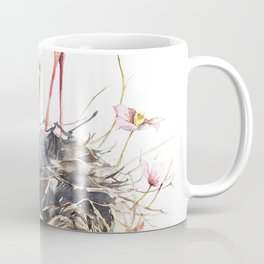 Stork Nest, Many Small Nests, Pale Pink Clematis Vine, Nature, White Storks Coffee Mug