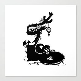 Dragons and Roses Canvas Print