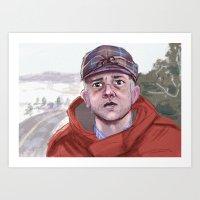 fargo Art Prints featuring Lester - Fargo by Charlotte Foley