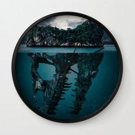 What's Below Dinosaur Skull (Color) Wall Clock