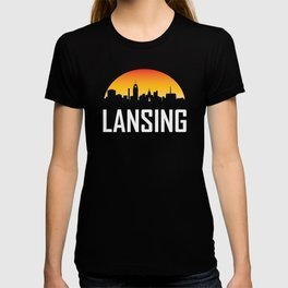 Sunset Skyline of Lansing MI T-shirt