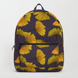 Ginkgo Leaf (Fall) - Plum Backpack