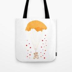 Landing Bear Tote Bag