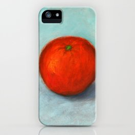 ORANGE OIL PAINTING iPhone Case