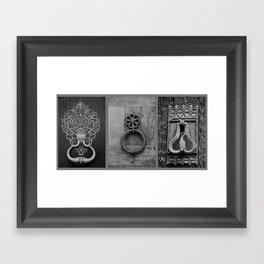 door knockers Framed Art Print