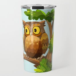 The Owl and The Squirrel Travel Mug