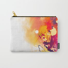 Abstract Autumn Gold Pattern Carry-All Pouch