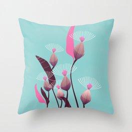Bursts of Pink Throw Pillow