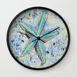 Starfish Abstract Wall Clock