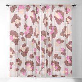 Leopard Print – Pink & Mauve Palette Sheer Curtain
