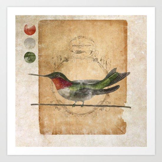 Miss Clara E Steeb Art Print