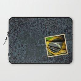 Sticker of Brazil flag Laptop Sleeve