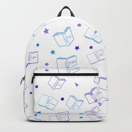 Classic Book Doodles Purple & Blue Backpack