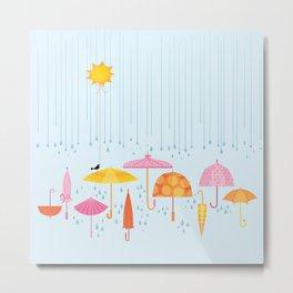 Pretty Parasols for Precipitation LineUp Metal Print