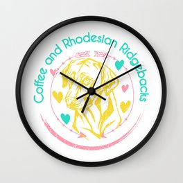 Coffee and Rhodesian Ridgebacks Wall Clock