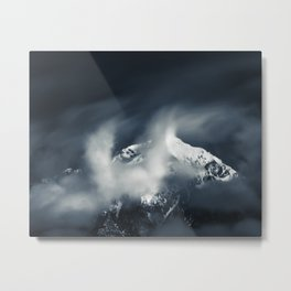 Darkness and chaos over the mountain Metal Print