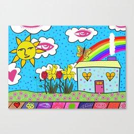 Rainbow House Canvas Print