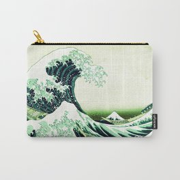 The Great Wave Green Carry-All Pouch