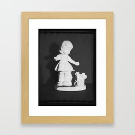 Ceramic Girl Framed Art Print
