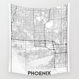 Minimal City Maps - Map Of Phoenix, Arizona, United States Wall Tapestry