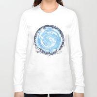 cities Long Sleeve T-shirts featuring Paronamic NZ by MARIA BOZINA - PRINT