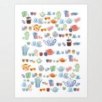 Time for a spot of tea and coffee Art Print