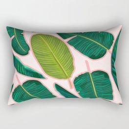 Banana Leaf Blush #society6 #decor #buyart Rectangular Pillow