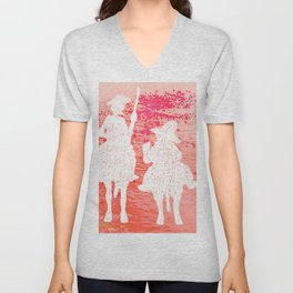 quixote and his friend Unisex V-Neck